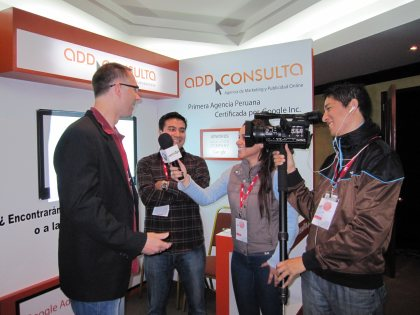 Interviewed by Peruvian TV-website at the IAB Conference