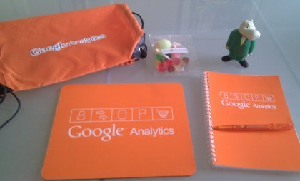 Google Analytics prize goodies